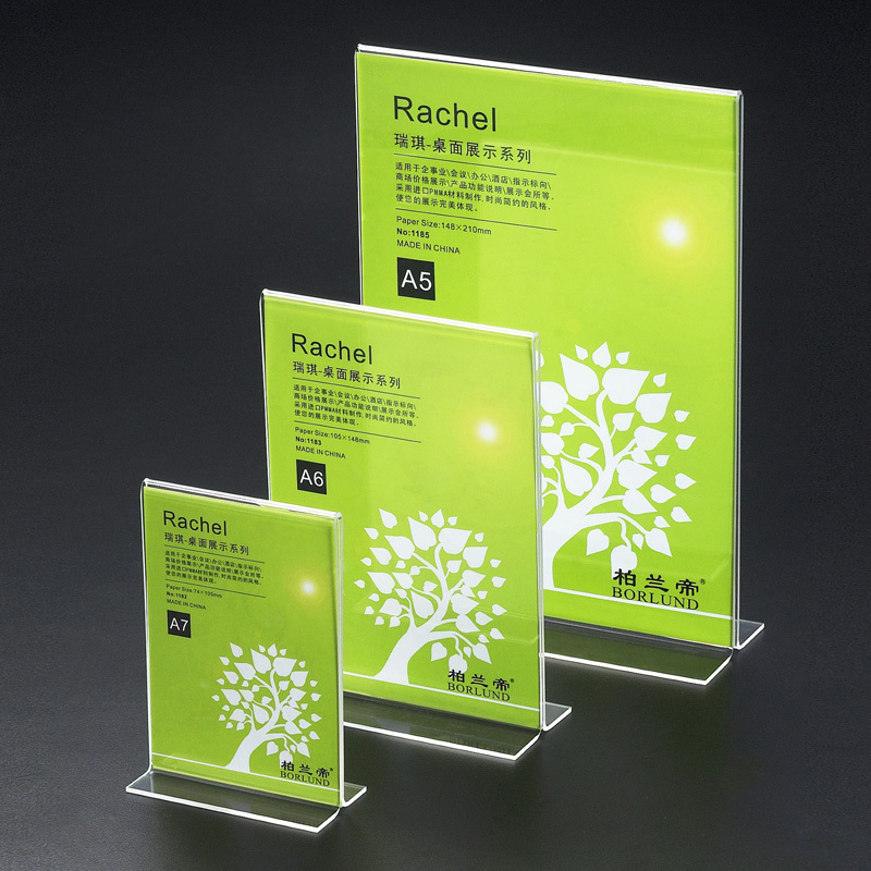 20pcs Countertop T Style Clear Acrylic A5 Sign Holders Menu Display Stand Restaurant Price Tag Holder Size 15cm*21cm(China (Mainland))