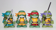 NEW HOT 4 pieces/set Anime Cartoon TMNT Teenage Mutant Ninja Turtles PVC Toy Action Figure Toys Dolls