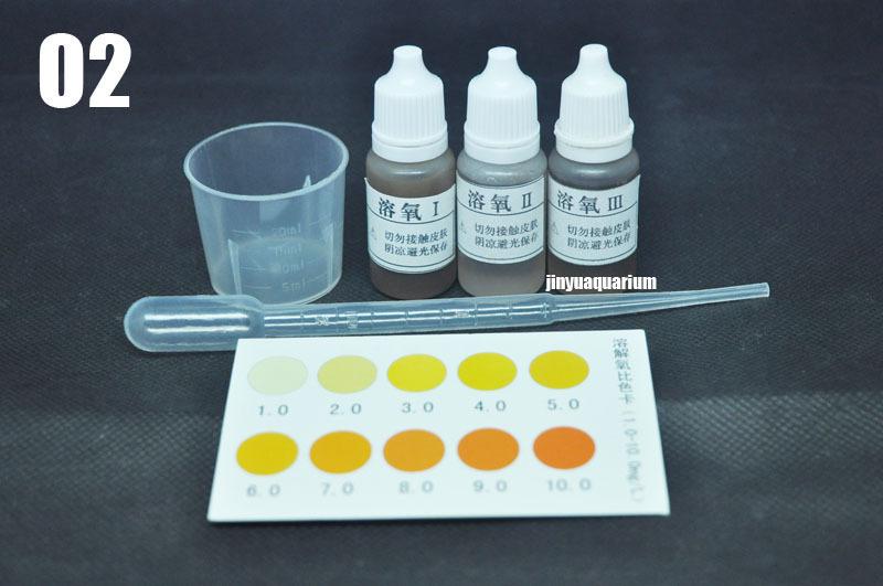 O2 oxygen test kit liquid aquarium fish tank aquaculture for Fish tank test kit