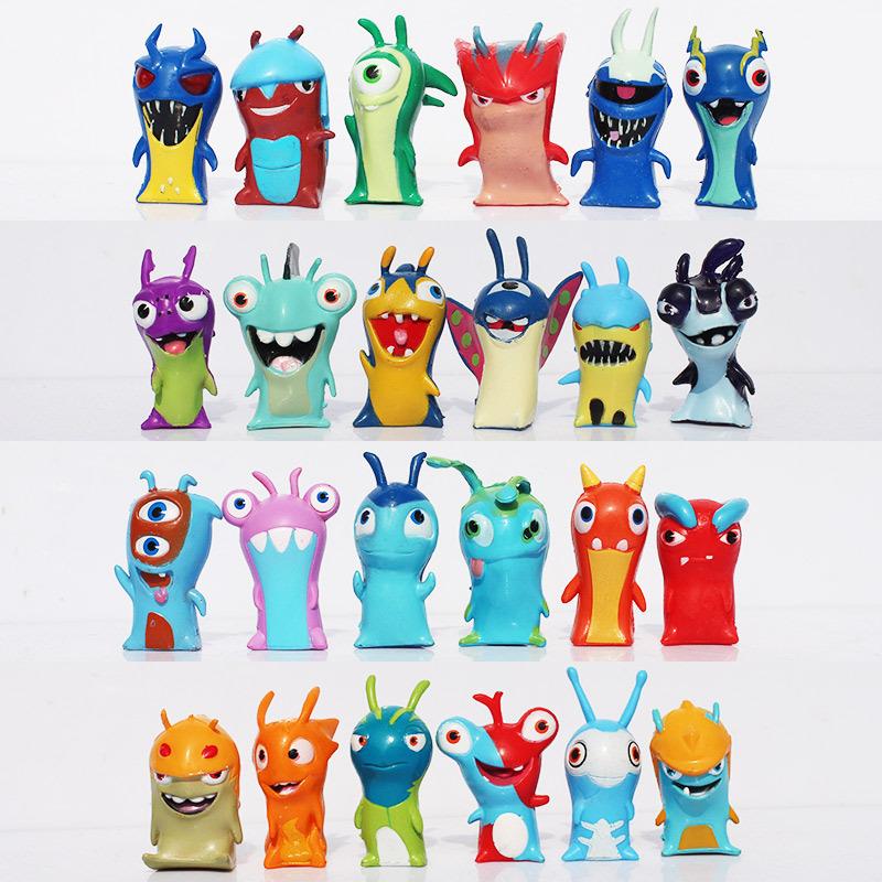 Slugterra figures Cartoon Mini PVC Action Figure Toys Model Dolls For Children 24pcs/set(China (Mainland))