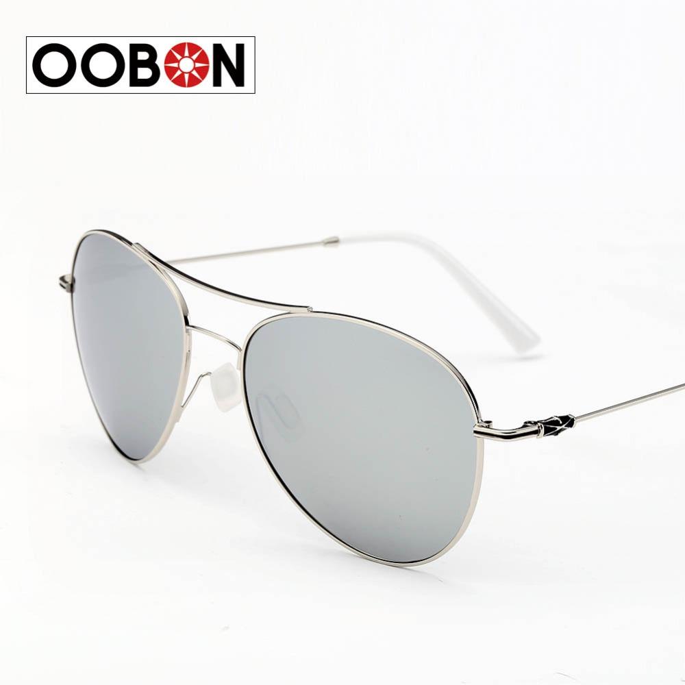 OOBON Fashion Classic Sunglasses Brand Designer men For women Mirror Sun Glasses Coating With Logo UV400 Sunglasses A338(China (Mainland))