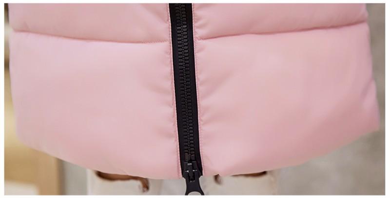 Winter Knee Length Down Cotton Jacket Woman 2016 Medium Long Slim Plus Size Cotton-padded Coat Thicken Student Parka SS993