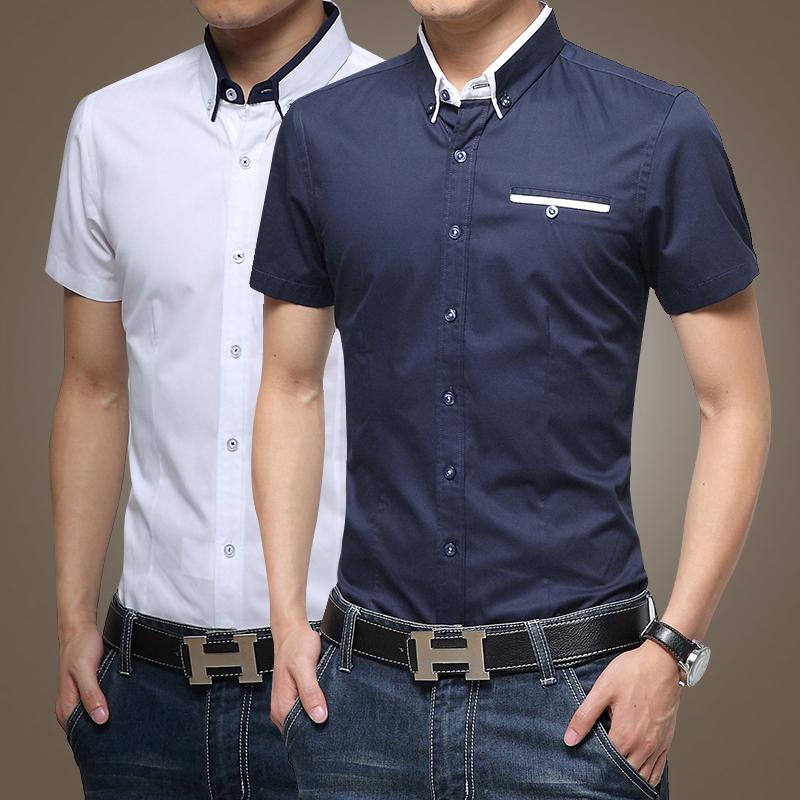 European casual style 2015 big size m 5xl obesity men 39 s for European mens dress shirts
