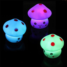HighHigh Quality New Mushroom Shaped LED Lamp Night Light Nightlight Lamp Flashing Toy Free Shipping 12.17