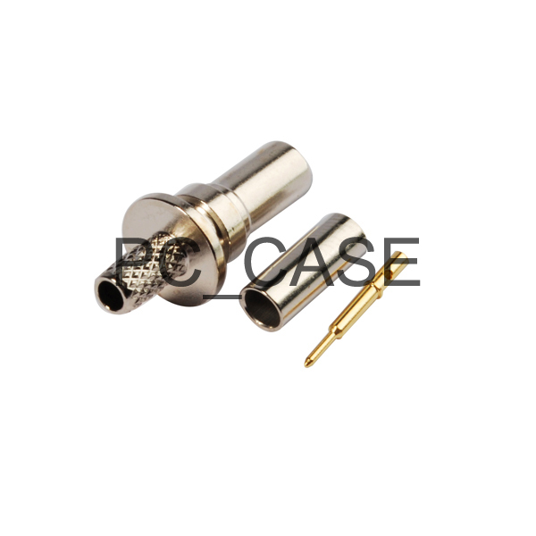 RF electrical wire terminal connector SMB female straight nickelplated Crimp for coaxial cable RG316 RG174 LMR100(China (Mainland))