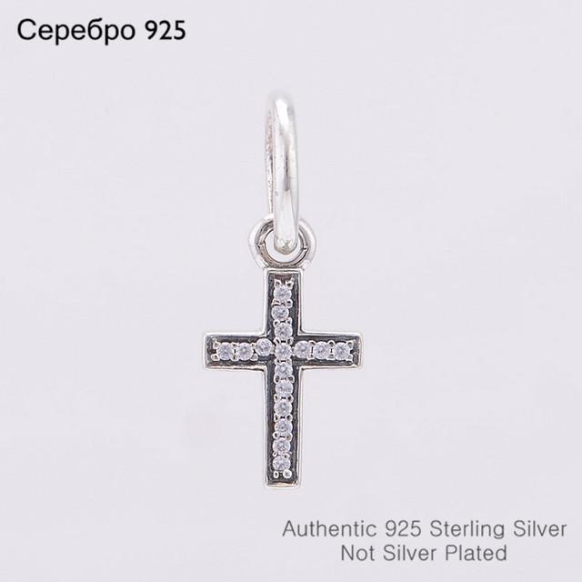 Подходит пандора подвески-талисманы браслет аутентичные 925 чистое серебро бусины неискрящий мотаться крестики подвески своими руками ювелирные изделия