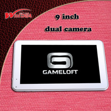 Free shipping 9inch 16G dual camera 5 points capactive screen WiFi tablet pc