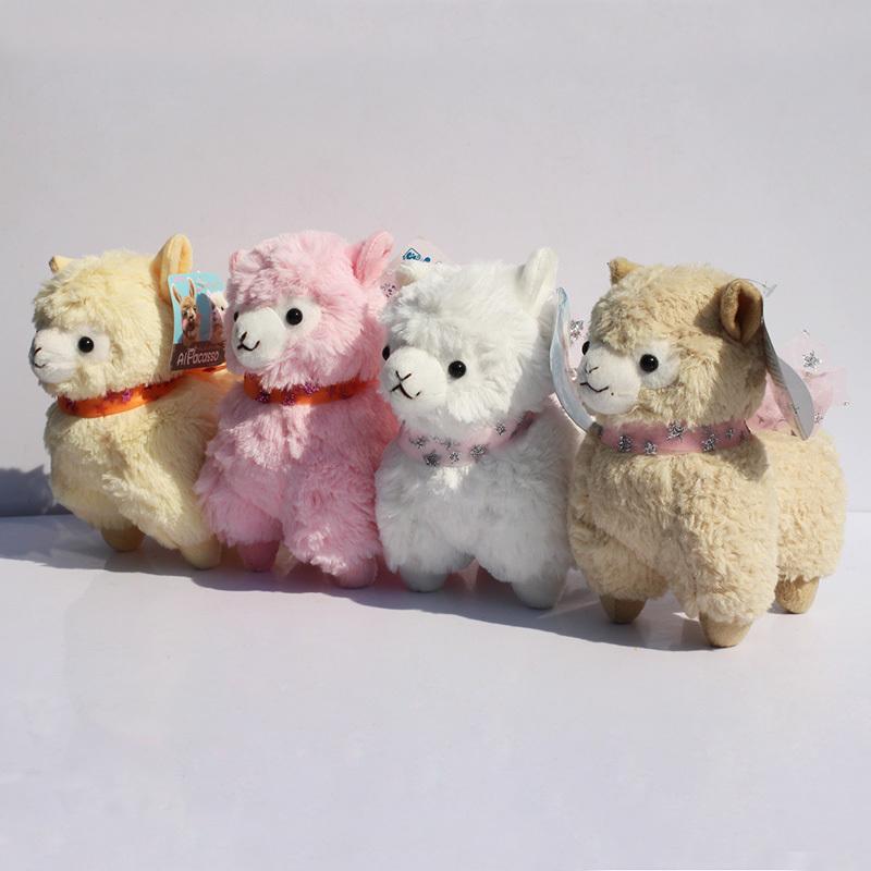 "4 Colors 7"" 18cm amuse Arpakasso Alpacasso Alpaca Stuffed Animals Soft Doll Sheep Plush Toys For Girl Free Shipping 4pcs/lot(China (Mainland))"
