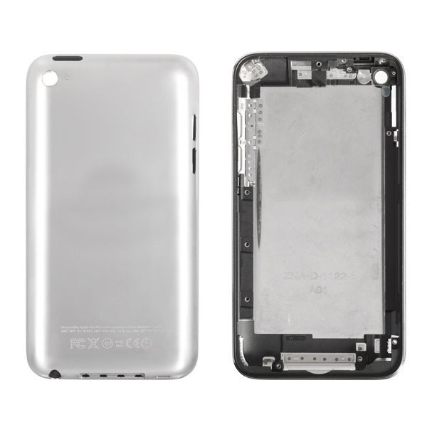 5pcs/lot Black/White for iPod touch 4 back housing battery door rear cover free shipping(China (Mainland))