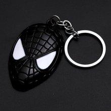 Super herói aranha-homem deadpool chaveiro super herói spiderman máscara vermelha chaveiro de metal moda chaveiro carro figura de ação brinquedos(China)