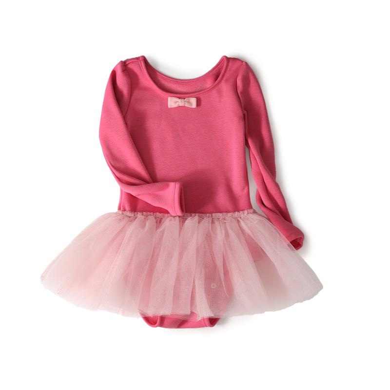 GOTS Certificate Wholesale 6pcs 100% Organic Cotton Dance Gauze Ball Grown Draped Baby Girls Ballet Bowtie Long Sleeves Dress<br><br>Aliexpress