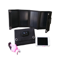 7w  Output Foldable caming travelprotable solar panel charger USB for iphone, android,power bank, Mini Ipad, GPS,Game Player ect