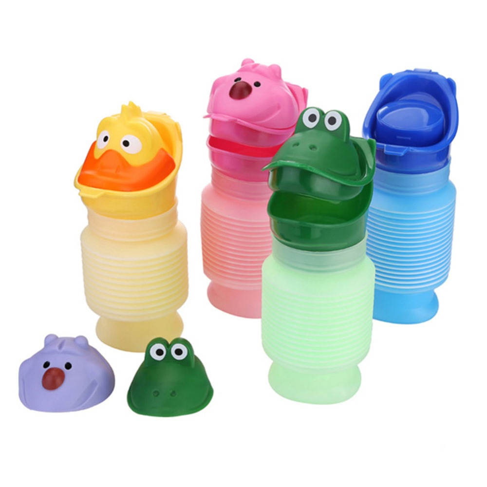 1 Set Potty Training Portable Travel Cartoon Urinal Stretch Car Toilet For Boy&Girl Kids Color 22625