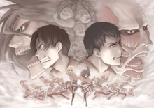 Free shipping Attack on Titan (2013) Japanese sci-fi anime Poster print silk fabric wall decoration 24x36in(1447180793323)