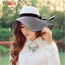 Women's Caps Beanies Headgear Headdress Female Large Floppy Sun Cap Luxury Female Fashion Summer Ladies Wide Brim Beach Hats(China (Mainland))