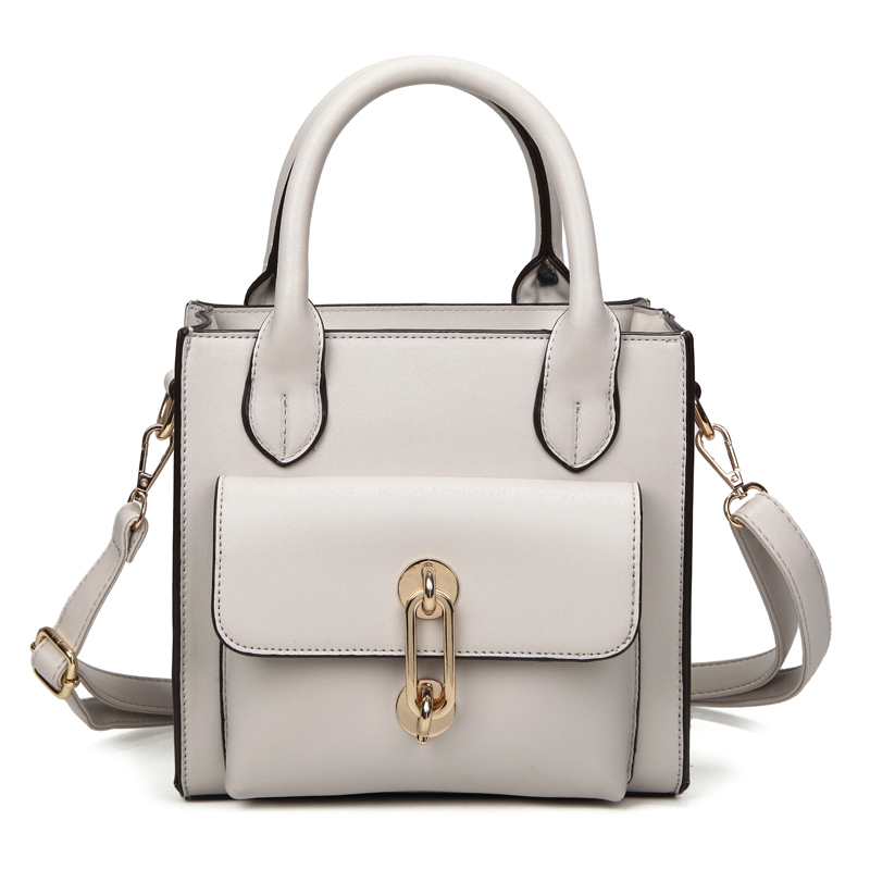 Famous Designer Brands High Quality Handbags Women Lady Bags 2016 Leather Top Handle Bags Grey Large Tote ladies hand bags(China (Mainland))