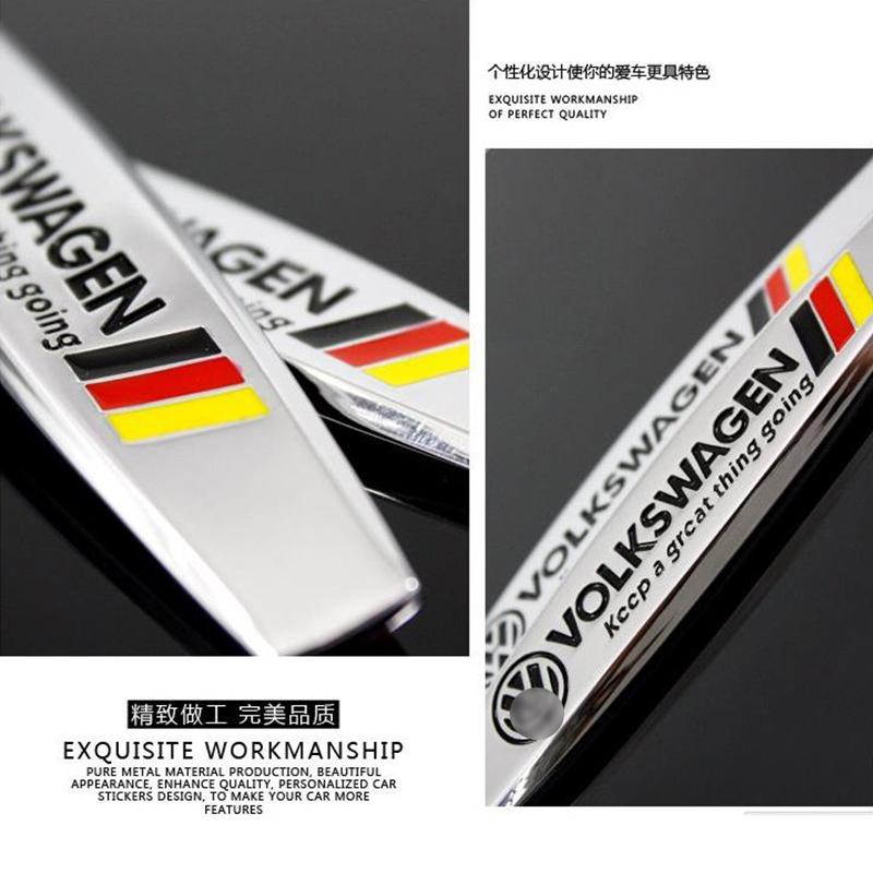 Matal Original Design Car Spare Parts Auto Accessories Car Fender Sticker For VW Volkswagen B5 B6 MK4 MK5 MK6 Golf Polo PASSAT(China (Mainland))