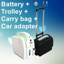 110V-240V DC12V 5L Portable Oxygen Concentrator JAY-1 With rechargeable Li-ion Battery + Car Adapter+Trolley Case+Carry bag(China (Mainland))