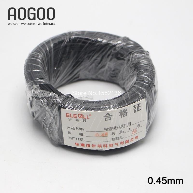 0.45mm 100m Cable Tie Galvanized Tie Wire Black Flat Shape fasten Bag Use in Garden Tie Up Fruit(China (Mainland))