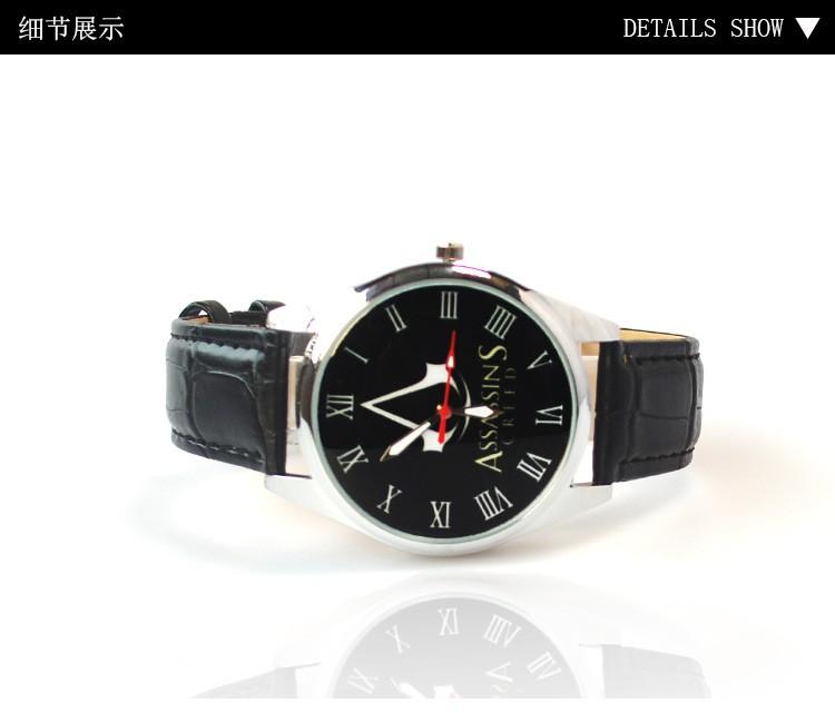 Assassin's creed часы Мужчин и женщин моды кварцевые Аниме водонепроницаемые Наручные часы мальчик в девочке студент наручные часы