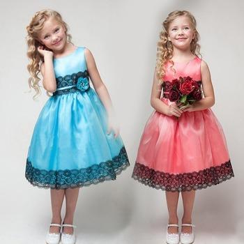 Девушка дети принцесса с бантом свадебное платье ну вечеринку театрализованное тюль вырос платье 2 - 7 г