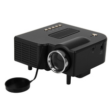 Excelvan UC28+ Portable LED Projector Cinema Theater PC&Laptop VGA/USB/SD/AV/HDMI Input Black Mini Pocket Projector(China (Mainland))