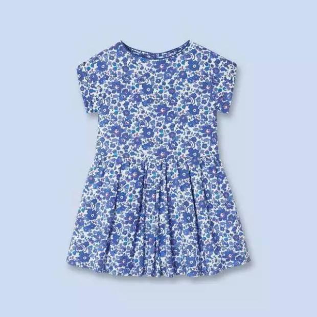 Special offer! Jacadi style blue small Suihua cotton dress children Princess Dress Girls(China (Mainland))