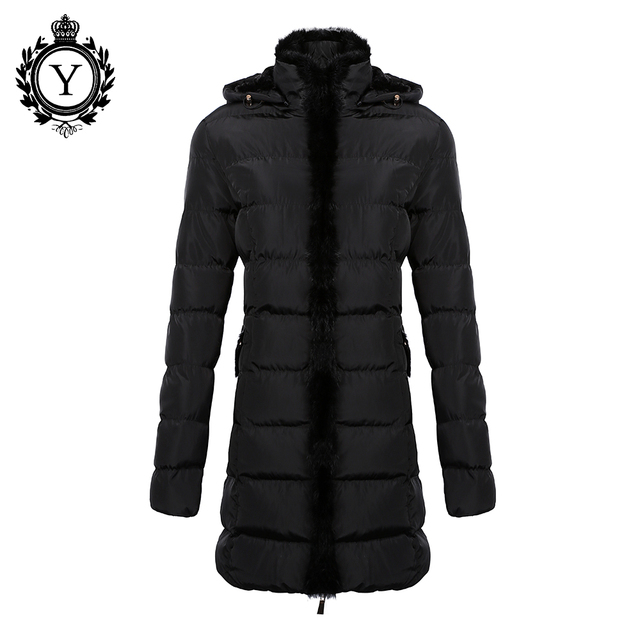 COUTUDI Парки Для Женщин Зимние Пальто и куртки 2016 Кролика толстовка Качество Пальто И Пиджаки Плюс Размер Вниз Пальто Длинный Тонкий Дизайн
