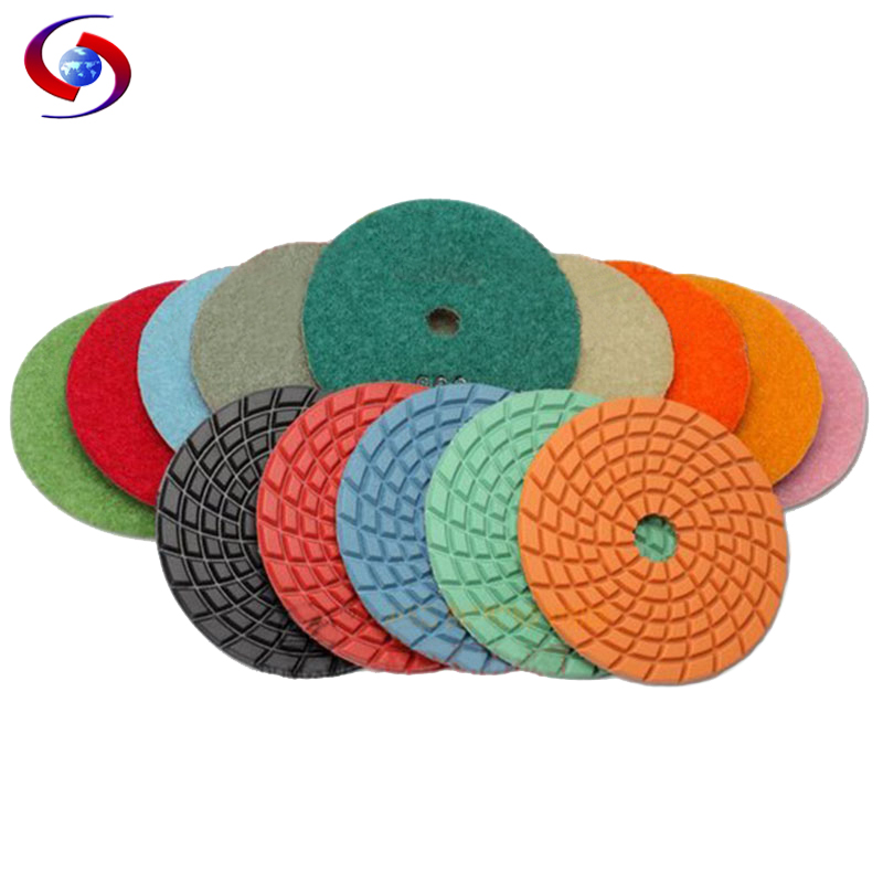 (4DS6)10 pcs/lot 4 inch high strength diamond flexible polishing pad100mm granite pads Burnishing concrete - RIJILEI GZ Store store