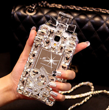 case for Samsung Galaxy Note 4 3 2 S6edge S6 S5 S4 S3 crystal diamond perfume bottle phone case for iphone 4 5s 5c 6 6s 6 plus(China (Mainland))