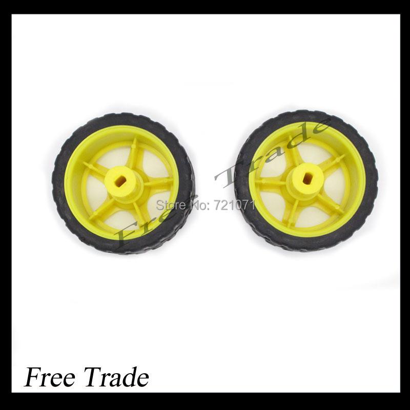 66MM 1:48 Small Smart Car Model Plastic Robot Tire Wheel Free Shipping Dropshipping(China (Mainland))