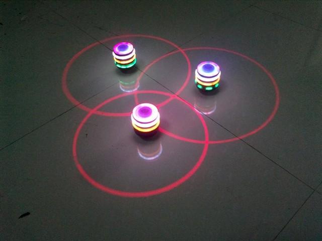 Flash music spinning top luminous spinning top flash spinning top spinning top laser line spinning top