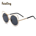 FEIXIONG Cat Glasses Women round Frame sunglasses Women Eyeglasses ladies computer glasses men Clear Glasses gafas de sol mujer