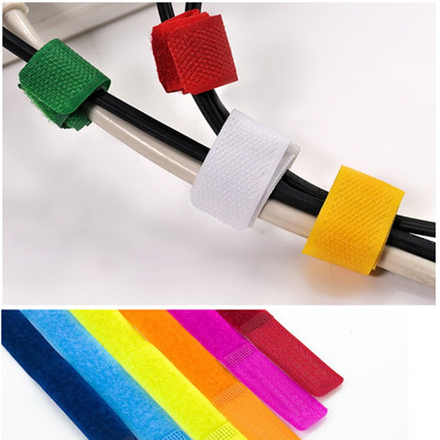 Free Shipping 12pcs Colorful Straps Wire Cable Ties Organizer Velcro Maker Holder A1528(China (Mainland))