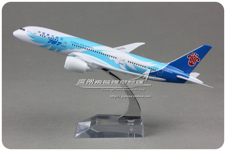 18cm Metal Alloy Plane Model Air China Southern Airlines B787-8 B-2725 Aircraft Boeing 787 Airways Airplane Model w Stand Toys(China (Mainland))