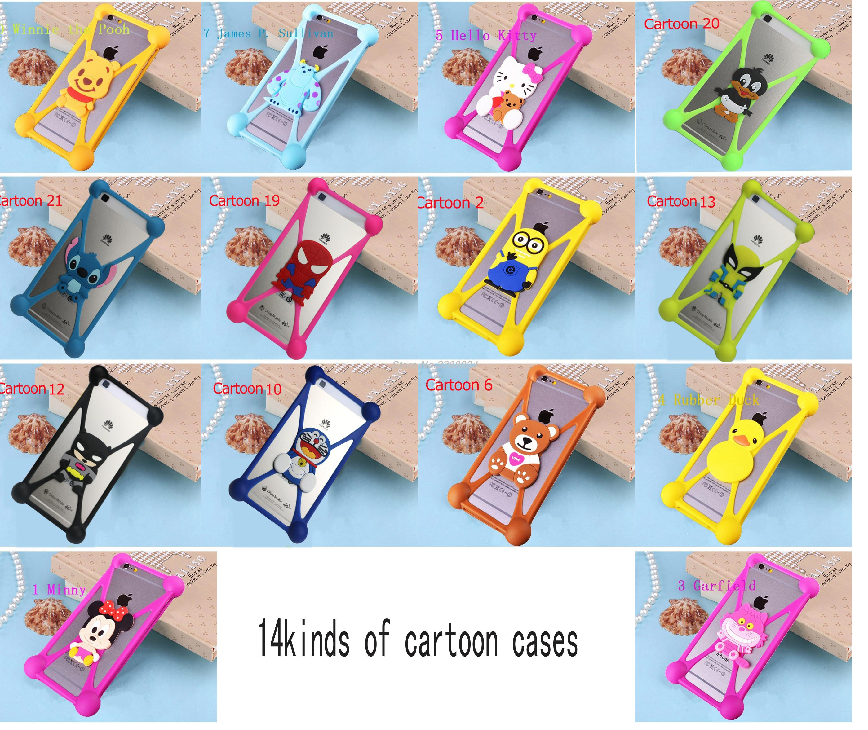 Cute Cartoon Silicone Universal Cell Phone Cases For samsung i8530 i8258 i8700 i897 i8250 Galaxy S3 Mini S Duos S2 Plus(China (Mainland))