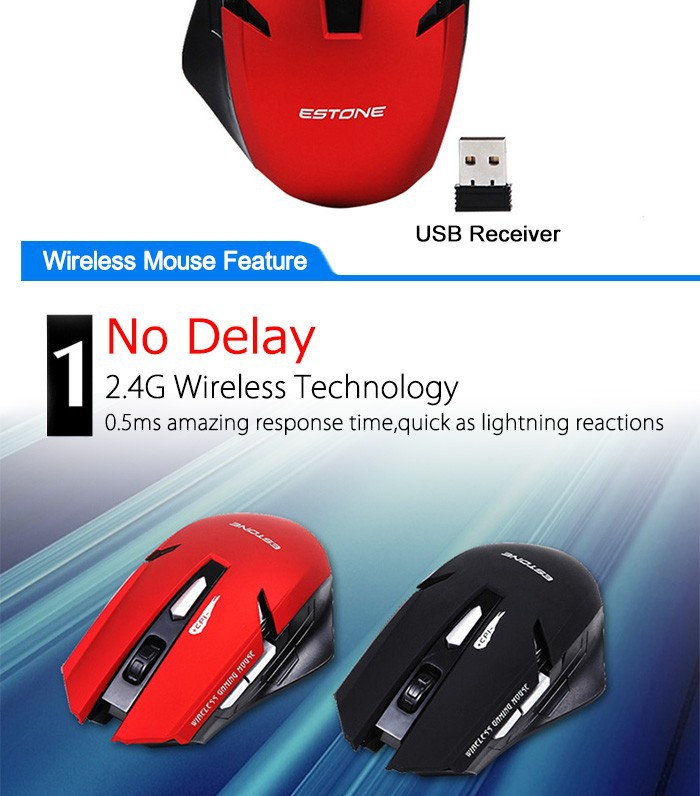Optical USB Mouse Mice Wireless Computer Mouse 2.4G Receiver 6 Buttons Gaming Mouse Mice Raton Ordenador 10m Wireless Optical