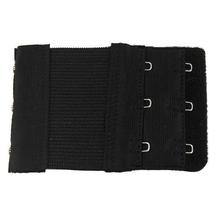 5 Pcs Black Dual Rows Adjustable Bra Extender Hook w Eye Tape