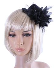 unique Women Party Head Hair Clip Barrette Hat Flower Feather Bride Headband Hairclip Fashion clothes Accessories