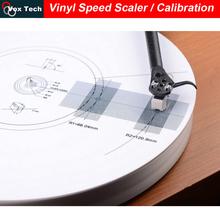 Lp disque vinyle vitesse compteur mesureur Scaler / aiguille d'étalonnage Double côté plateau lecteur calibration, Platine vinyle disque(China (Mainland))