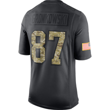 Men's New Brady embroidery Logos Gronkowski Jerseys hot sale Julian Anthracite 2016 Salute to Service Black Color Free Shipping(China (Mainland))