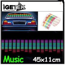 Car Music Lamp EL Rhythm Lights Movement LED Voice Sound Projector Sensor Speaker Novelty Lighting Atmosphere Car Music Lamp(China (Mainland))