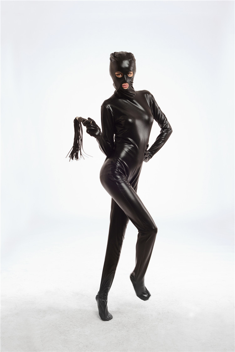 Factory Direct Patent Leather Clothing Adult Supplies Stage Props Whip Rubberized Clothes Sexy Leather Bodysuit Catsuit Sex Toys(China (Mainland))