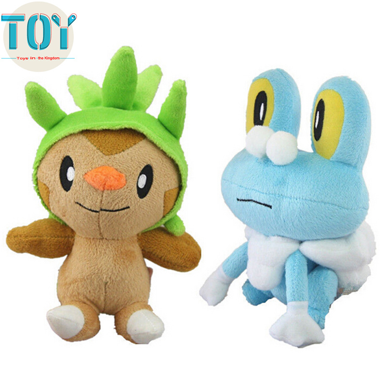 New Pokemon Chespin Starter Grass Froakie Frogs Plush Doll Anime Brinquedos Baby Dolls Kids Toys Gift Brinquedos 18cm with Tag(China (Mainland))
