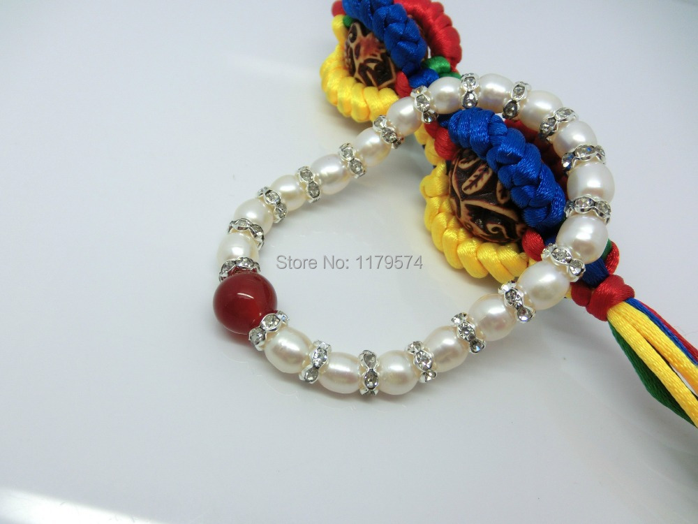 Fashion Round Red Agate Rice White Freshwater Shell Pearl Bracelet Beads Jewelry Natural Stone 7-8mm Wolesale Price YH0075(China (Mainland))
