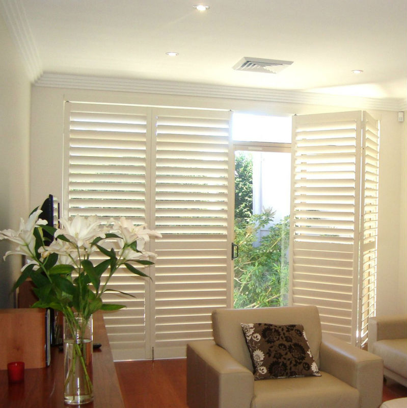 Linkok Furniture Living Room White Wood Window Door Blinds Shutter In Shutters From Home