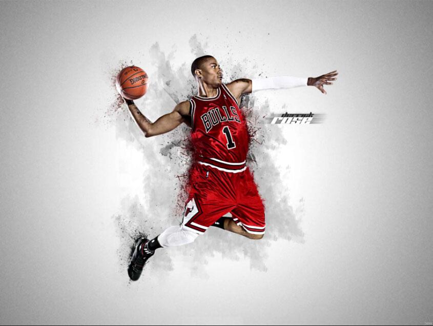 Basketball Sport Stars Derrick Rose Bulls Art Huge Print Poster TXHOME D6899(China (Mainland))