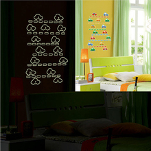 Luminous cartoon car wall stickers eco-friendly decoration DIY fluorescent stickers children's room bedroom toy cars sticker(China (Mainland))