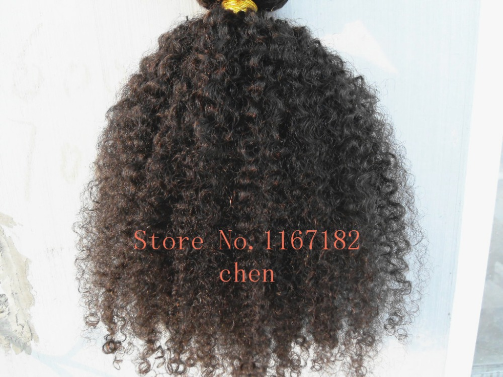 brazilian hair extensions afro kinky curly clips in hair weft double drawn 9pcs/lot natural black unprocessed color curly hair(China (Mainland))