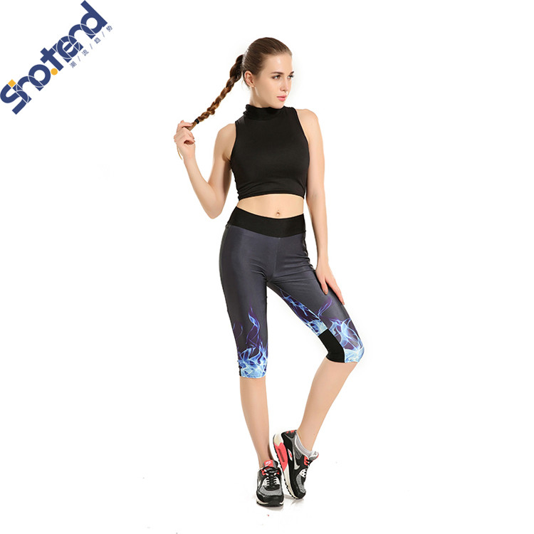 S.T New Ice Fire Leggings Digital Print Slim-fit Jeggings Girl Fitness Legging Hip-hop Dance Pants for Drop Shipper